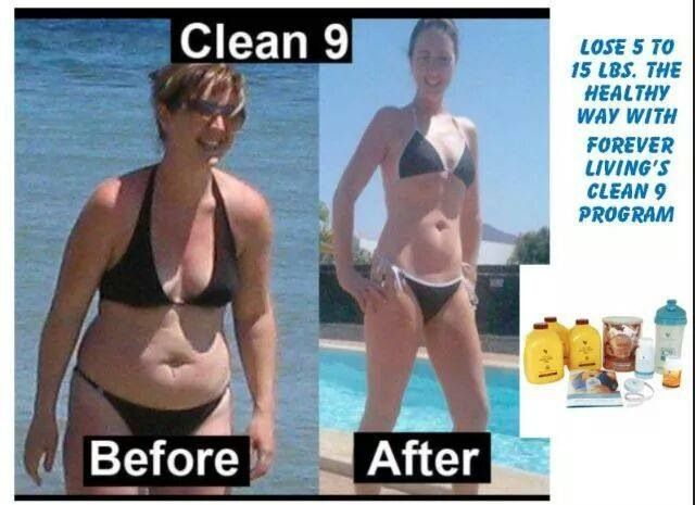 Before and after the Clean9 Cleanse.  https://www.foreverliving.com/retail/entry/Shop.do?store=GBRlanguage=endistribID=440500020582itemCode=700
