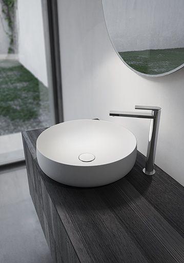 Sense by Aqua in black Teak Wood with basin and mirror