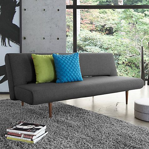 Buy Innovation Unfurl Sofa Bed, Dark Grey Online at johnlewis.com