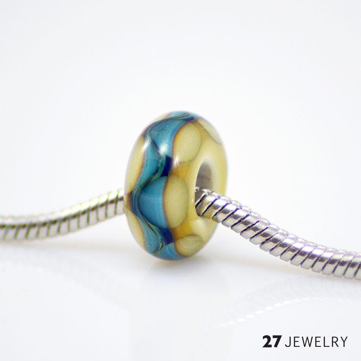 27jewelry handmade pandora style big hole glass bead