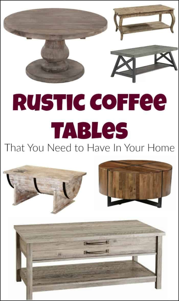 rustic coffee tables that you need to have in your home farmhouse rh pinterest com