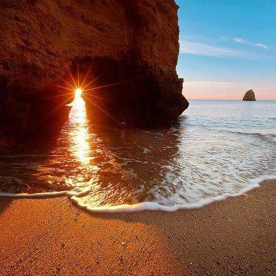 Sunrise at Lagos, Faro, Portugal #visitportugal #carrental #carhireportugal