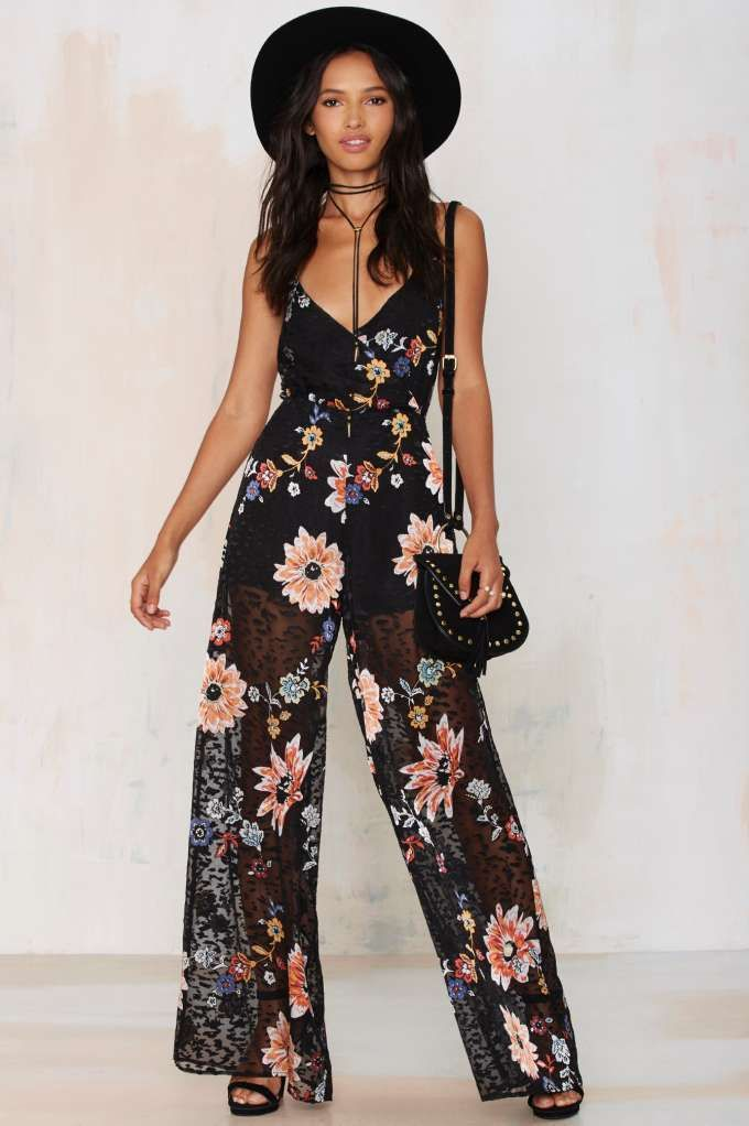 Nasty Gal Band of Gypsys Floral Jumpsuit | Shop Clothes at Nasty Gal!