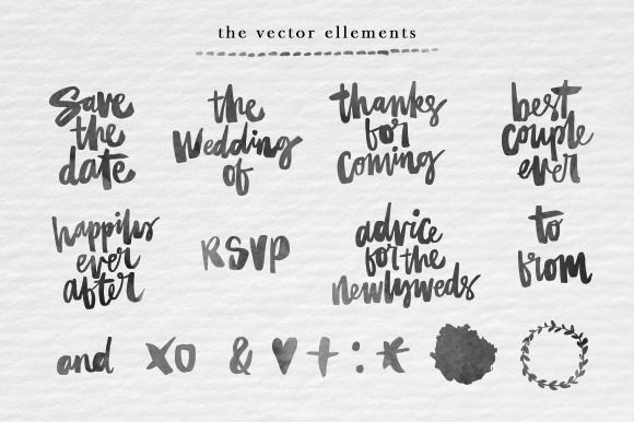 Hand Lettered Wedding Collection - Illustrations - 3