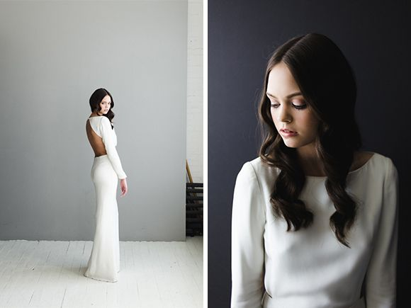 Modern and edgy bridal gowns from Houghton NYC