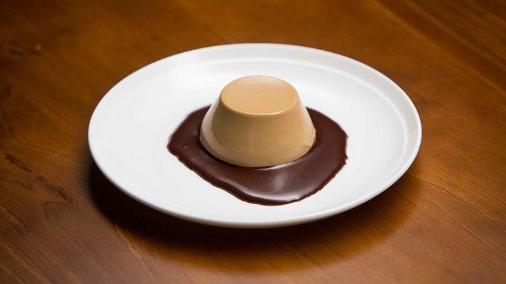 Nigella's Three-Course Dinner - Coffee Panna Cotta with Chocolate Sauce