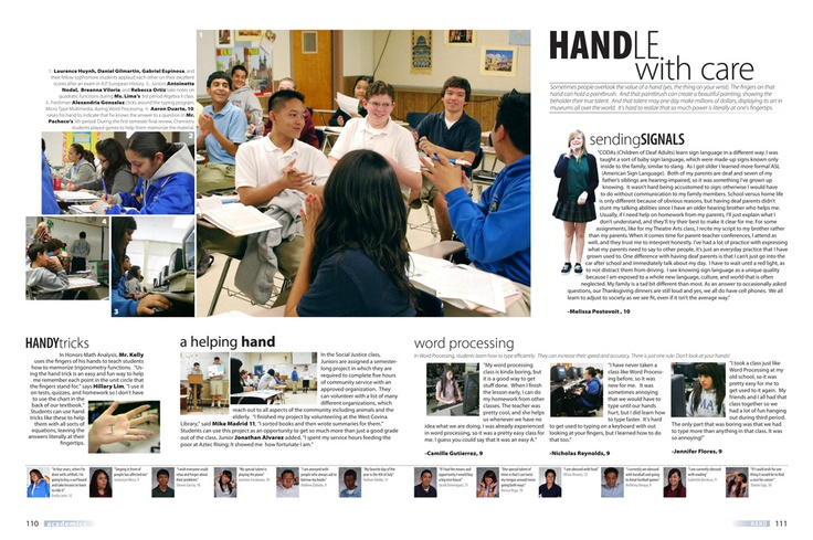 Use these tips to get new angles on your yearbook ...  |Academic Spreads For Yearbook Ideas