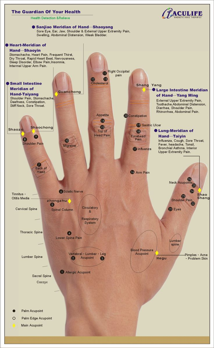 Acupoint Handmap - Back of Hand