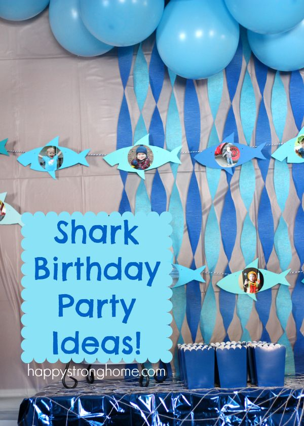 212 best Shark Theme Birthday images on Pinterest Birthdays