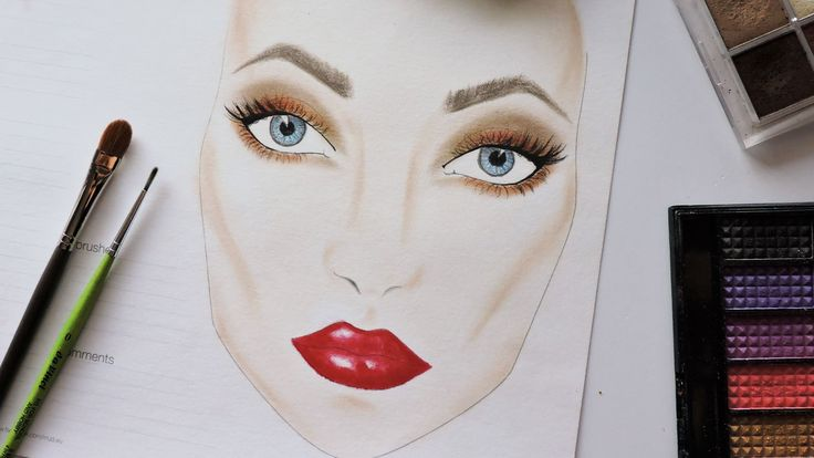 In this class I want to show you how you can make artwork with your makeup and draw a beautiful face chart.