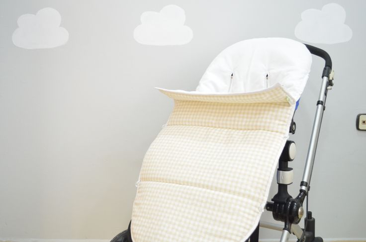 Saco silla paseo Nonotú en cuadros beige y blanco Disponible en www.nonotu.com