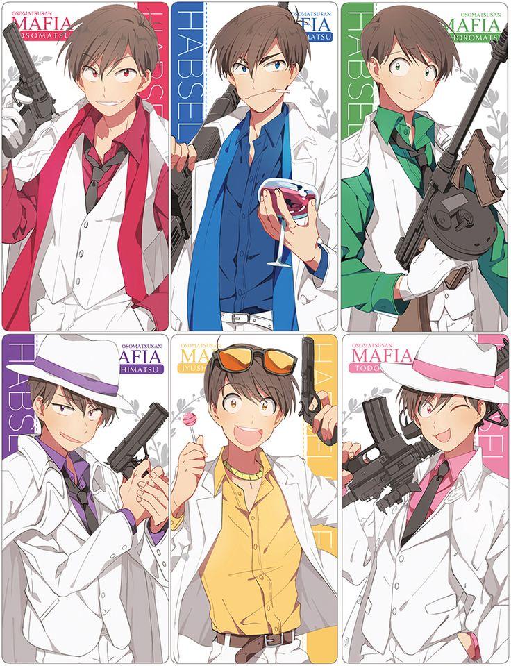 Osomatsu, Karamatsu, Choromatsu, Ichimatsu, Jyushimatsu & Todomatsu