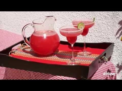Make these delicious watermelon margaritas with fresh ingredients.