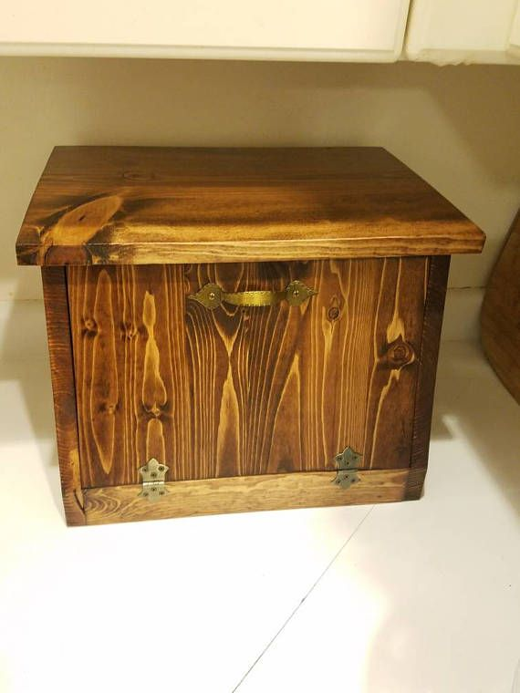 Check out this item in my Etsy shop https://www.etsy.com/listing/533292875/rustic-bread-box-bin-kitchen-storage