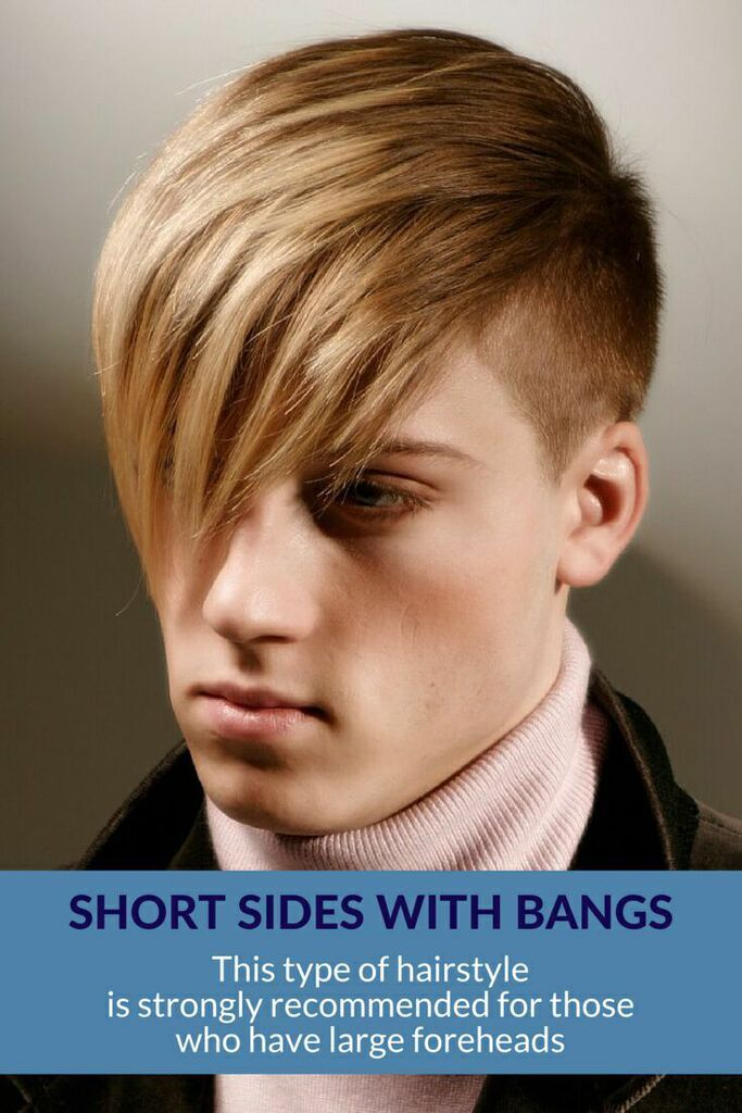 Short Sides with Bangs - This is a recommended #haircut for #guys with high foreheads.  ❤ See more top hairstyles for men! ❤