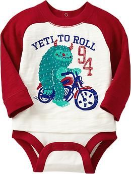 2-in1 Yeti-Graphic Bodysuits for Baby Couldn't get the Yeti to Rock, so I got this one instead.