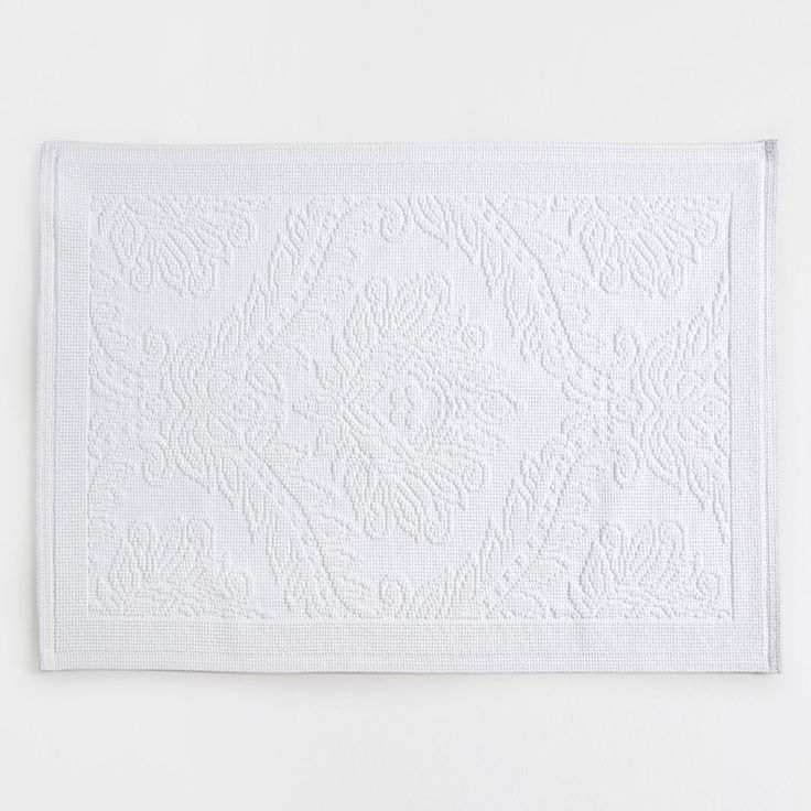 Bild 1 des Produktes Badeteppich aus Baumwolle mit Blätterrelief