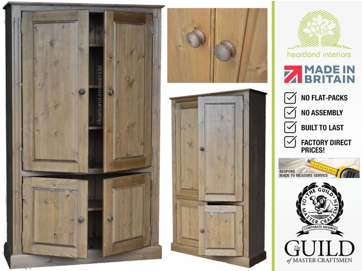 Solid Pine Oak Painted Multi Purpose Kitchen Hallway Bathroom Storage Cupboards Cabinets All Individually Handcrafted In The Uk At Genuinely Low