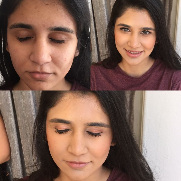 Before and After of Our In House make up yesterday #amandaferrisa #dressshop #makeup