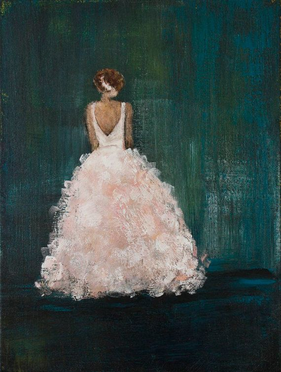 Figurative Painting ballgown  Swalla Studio