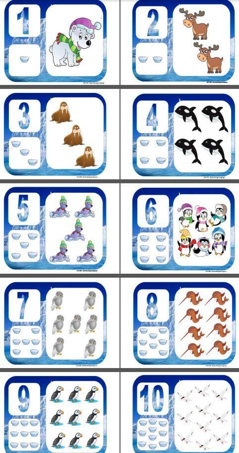 Números del 1 al 10 Polo Norte