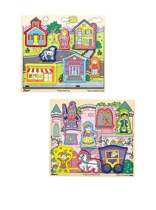 23% OFF T.S. Shure Chunky Town & Chunky Castle Puzzle Set