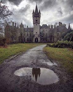Abandoned Miranda Castle, also known as Noisy Castle in Celles, province of Namur, Belgium
