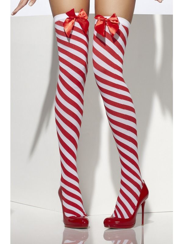 Candy Stripe Thigh High Stockings, Red and White [SF33136] - £6.99 : Get It On Fancy Dress Superstore, Fancy Dress & Accessories For The Whole Family. http://www.getiton-fancydress.co.uk/index.php?main_page=product_info&cPath=823_1197_1199&products_id=24413#.UsmEsPu6-RM