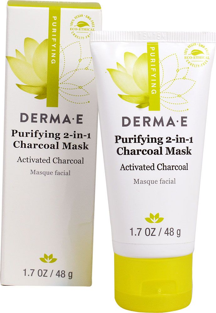 Derma E, Purifying 2-in-1 Charcoal Mask, 1.7 oz (48 g) 6 Pack - Yonka Phyto-Contour Eye Firming Creme 0.53 oz