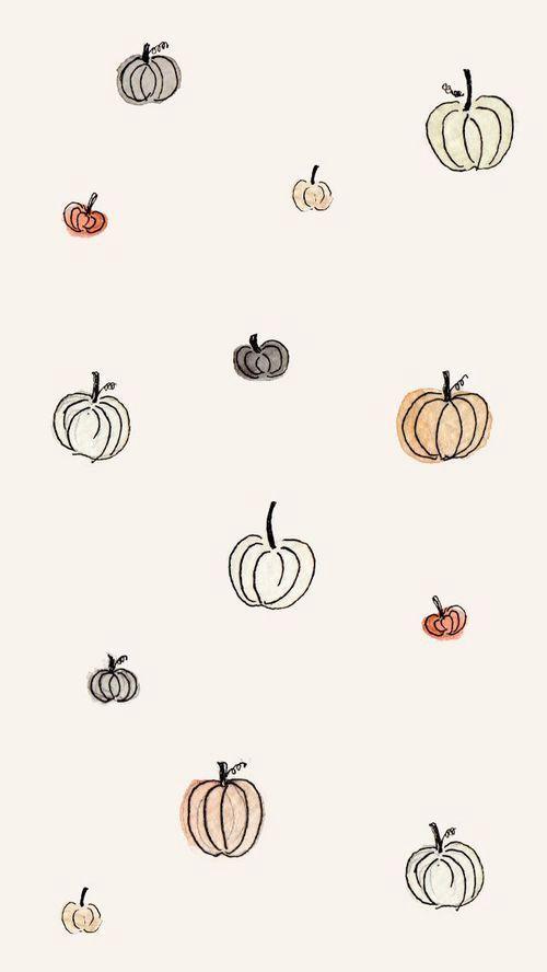 Kürbis-Tapete – Herbst
