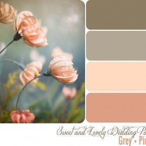 Wedding Color Palette / Grey + Pink