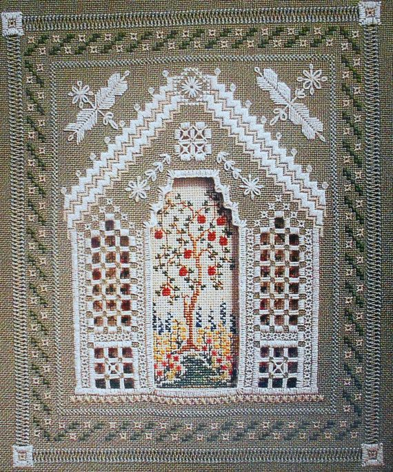 Patricia Andrle ROMANTIC GAZEBO 3D 3 Dimensional Layered - Counted Cross Stitch Hardanger Pattern Chart - fam