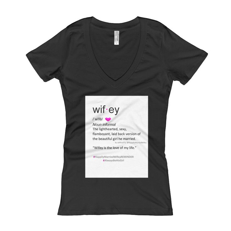 Wifey Definition Women's V-Neck T-shirt 2