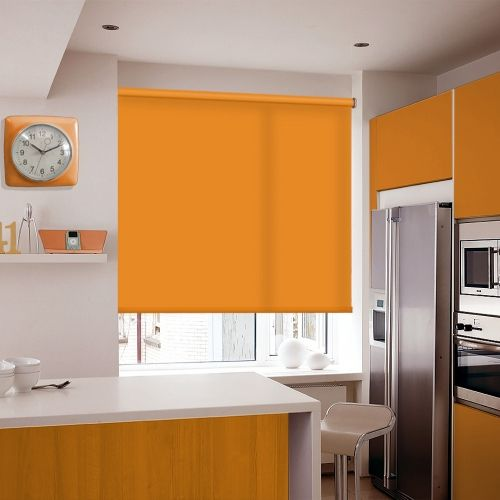 An elegant Orange made to measure roller blind fabric which is vibrant and eye-catching
