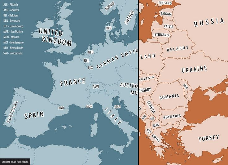 Map of Europe 1914 - 2014, not quite an infographic per se but cool thought visualization nonetheless.