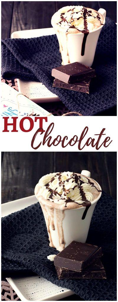 Rezept für selbstgemachte Heiße Schokolade #hotchocolate #rezepte #heisseschokolade