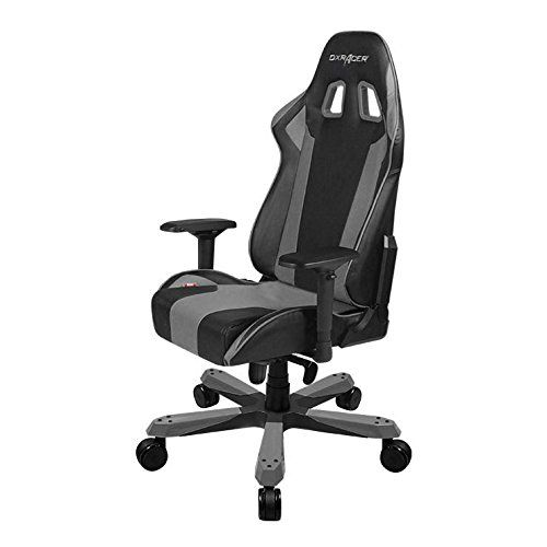 DXRacer King series OH/KS06/NG Large size Seat Office Chair Gaming Ergonomic with  Included Head and Lumbar Support Pillows (Black/Gray) Review https://swivelreclinerchairreview.info/dxracer-king-series-ohks06ng-large-size-seat-office-chair-gaming-ergonomic-with-included-head-and-lumbar-support-pillows-blackgray-review/