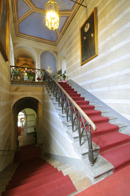 The staircase - Viti Palace, Volterra, Tuscany