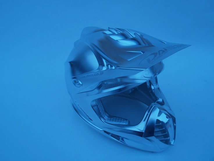 The blue collection: an amazing excample for 5 axis technology: a motorcycle helmet, created by Daishin/ Japan