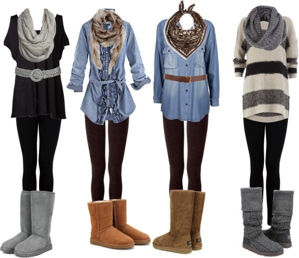 "I've got plenty of boots. Maybe I need to invest in some leggings...  ""leggings and boots 3"" by mackberry on Polyvore"
