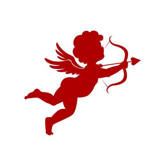 Ангел. Купидон. Валентинка. День Святого Валентина. Принт. Открытка. Иллюстрация. День влюбленных. Красный. Лук и стрелы. Подарок. Любовь.