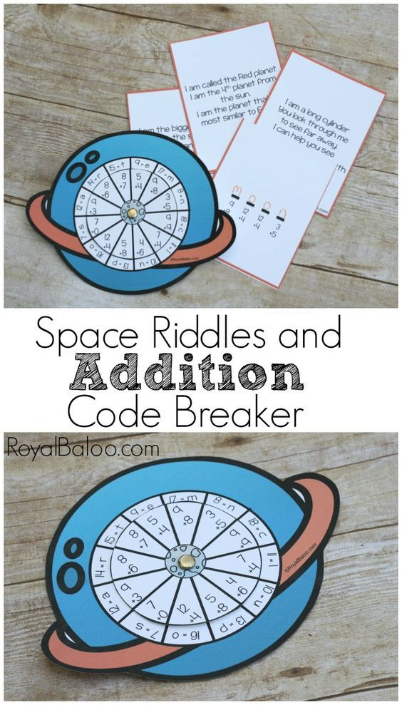 Space Riddles and Addition Code Breaker