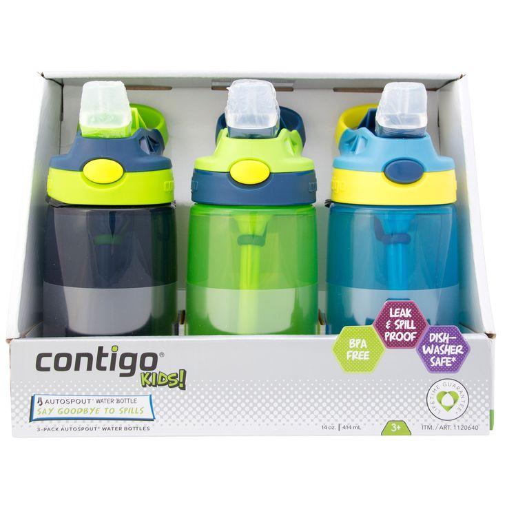 Contigo Kid's Water Bottle with AUTOSPOUT 3-pack