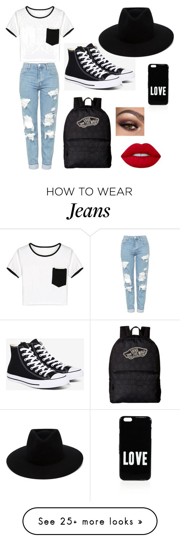 """""""Boyfriend jeans"""" by simina650 on Polyvore featuring Topshop, WithChic, Converse, Vans, rag & bone, Lime Crime and Givenchy"""