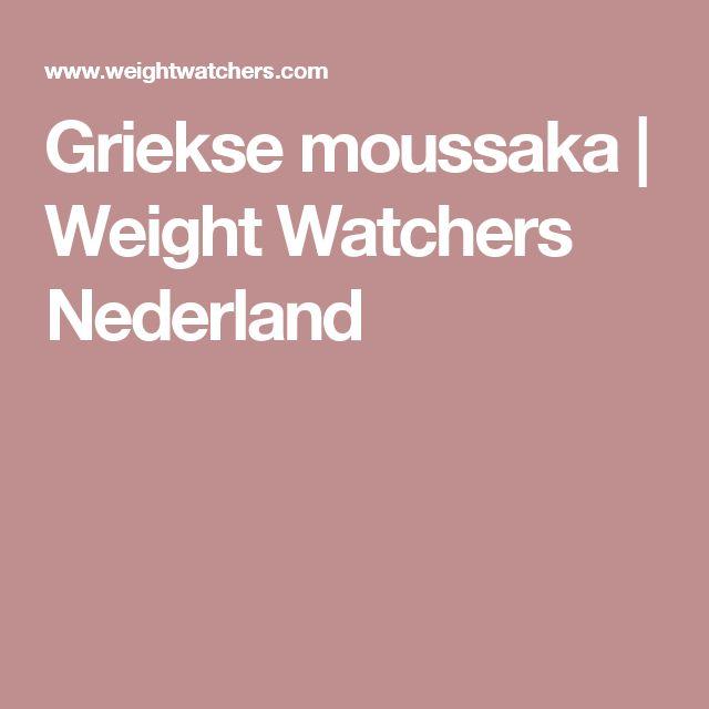 Griekse moussaka | Weight Watchers Nederland
