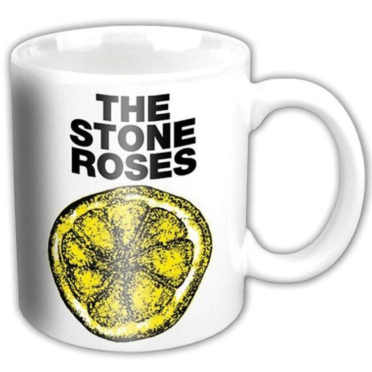 The Stone Roses Lemon Mug White Official Licensed Music. This item is perfect for any Stone Roses fans wanting to own official merchandise from this monster of