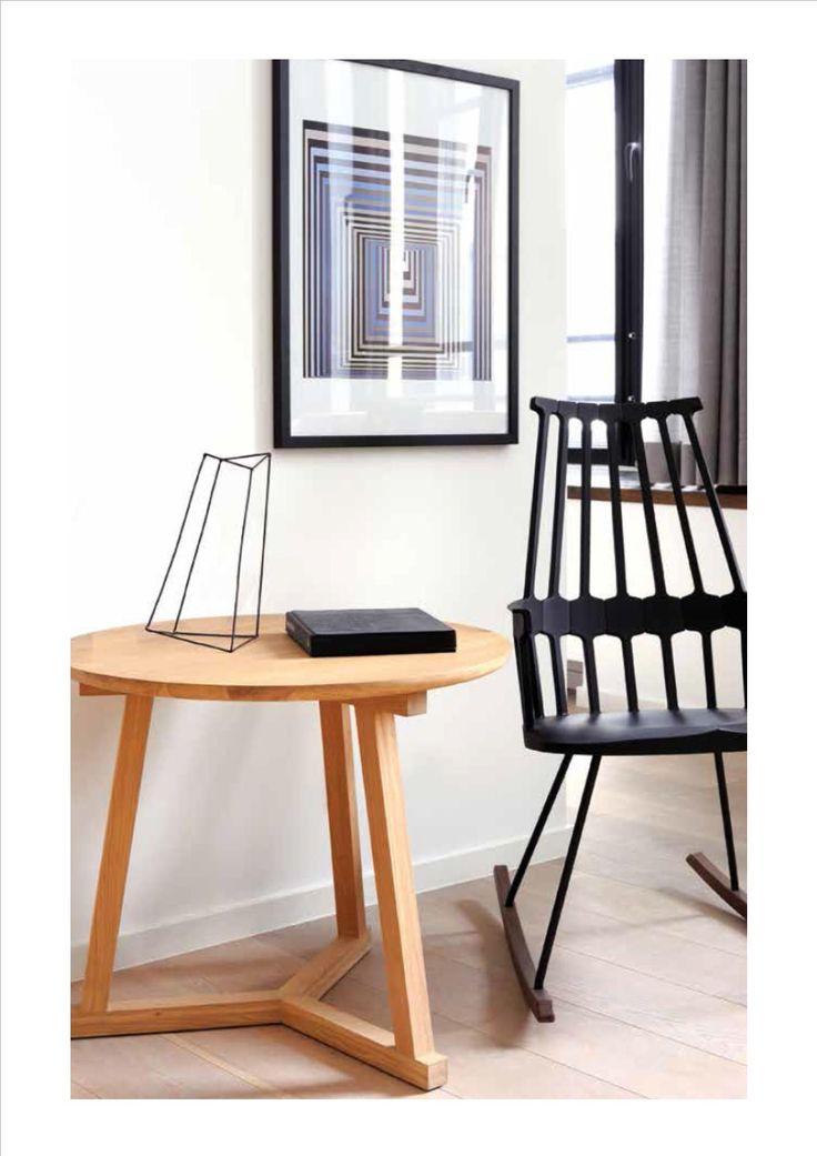 Tripod Sidetable- Oak Ethnicraft Collection 2014-2015