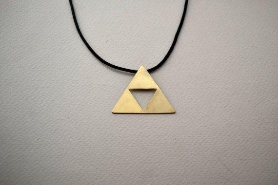 triforce necklace/zelda necklace/minimal by AbyCraft on Etsy