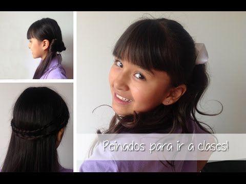 School hairstyles!  Estilo Sophie - YouTube