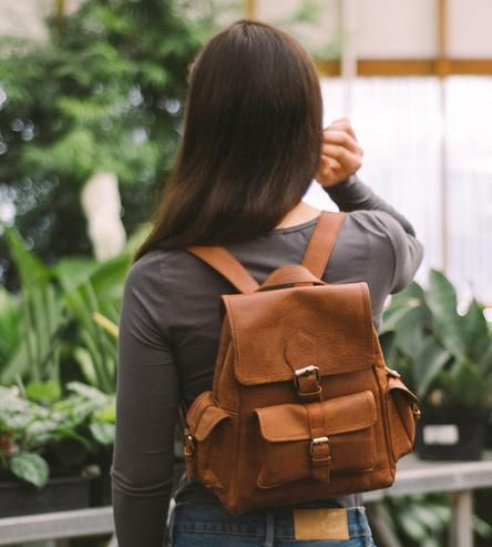 Sadie Leather Backpack by mo&co.